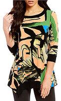 Eva Varro Arc Scoop Neck 3/4 Sleeve Tunic