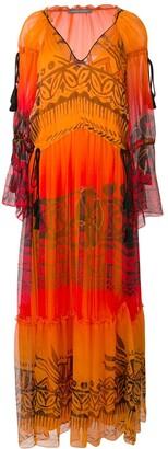 Alberta Ferretti Tassel Detail Long Dress