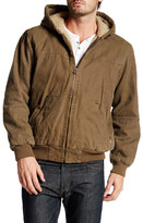 Levi's Faux Shearling Lined Hooded Bomber Jacket