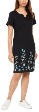 Karen Scott Petite Climbing Garden Dress, Created for Macy's