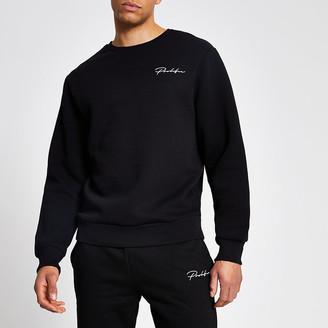 River Island Prolific black regular fit sweatshirt