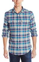 Original Penguin Men's Double Pocket Flannel Button Down Shirt