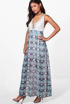 boohoo NEW Womens Eloise Metal Choker Maxi Dress in Polyester