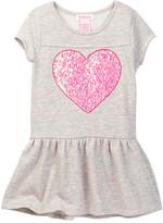Design History French Terry Heart Dress (Toddler & Little Girls)