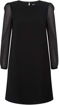 Claudie Pierlot Plumetis Detail Mini Dress