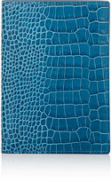 Smythson Men's Mara Passport Case-TURQUOISE