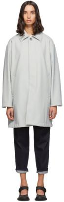 Fumito Ganryu Grey Trapeze Soutien Collar Coat