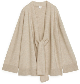 Arket Boiled Wool Wrap Cardigan