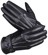 Goodbuy Men's Leather Touchscreen Gloves for Winter Bike Motorbike Cycling