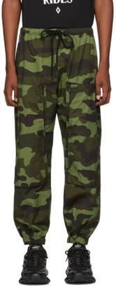 Marcelo Burlon County of Milan Green Camo Cross Pocket Lounge Pants