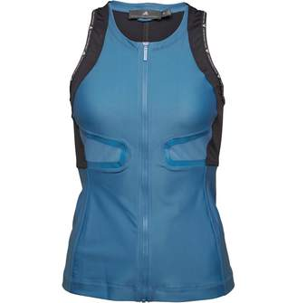 adidas x Stella McCartney Womens Run Racer Back Tank Top Storm Blue/Night Steel