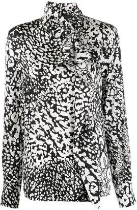 Escada abstract-print mock-neck blouse