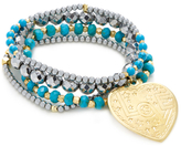 Good Charma Love Heart and Turquoise (Set of 4)