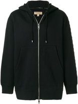 Burberry embroidered zipped hoodie