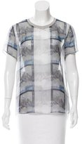 Theyskens' Theory Sheer Abstract Top