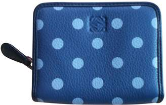 Loewe Blue Leather Purses, wallets & cases