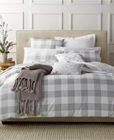 Charter Club Damask Designs Gingham Dove Full/Queen Comforter Set