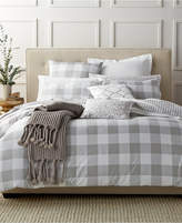 Charter Club Damask Designs Gingham Dove Twin Duvet Set