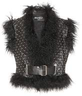 Balmain Studded leather vest