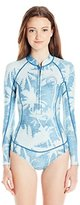 Billabong Women's Salty Daze Long Sleeve Spring One Piece Swimsuit
