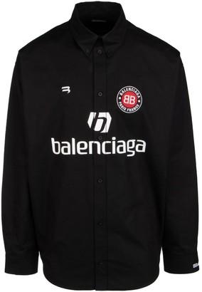 Balenciaga Soccer Sponser Logo Shirt