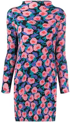 Issey Miyake Floral-Print Crinkle-Effect Dress