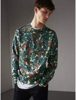 Burberry Beasts Print Cotton Sweatshirt , Size: Xxxl, Blue