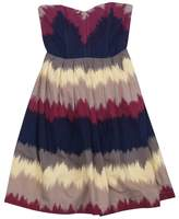 Corey Lynn Calter Taupe, Pink & Navy Printed Dress