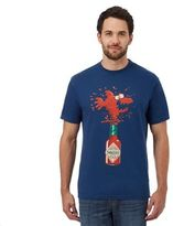 Weird Fish Big And Tall Blue 'tabasco' Print T-shirt