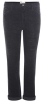 Current/Elliott The Fling Slim Boyfriend Cropped Corduroy Trousers