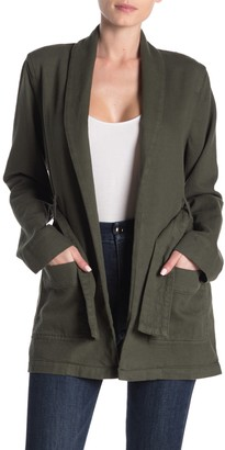 Good American The Wrap Belted Jacket (Regular & Plus Size)