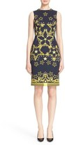 Versace Women's Star Print Neoprene Sheath Dress