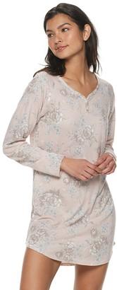 Flora Nikrooz Women's Flora by Elie Sweater Knit Sleepshirt