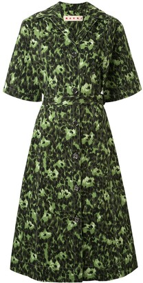 Marni Abstract-Print Shirt Dress