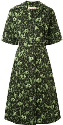 Marni abstract-print shirt dress