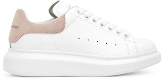 Alexander McQueen White and pink classic sneakers