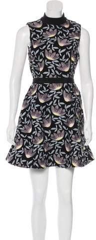 Self-Portrait Peony Lace Mini Dress
