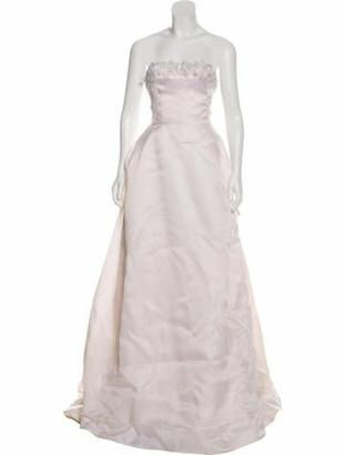 Oscar de la Renta Strapless Bridal Gown