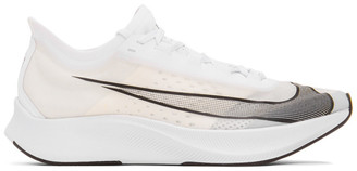Nike White and Black Zoom Fly 3 Sneakers