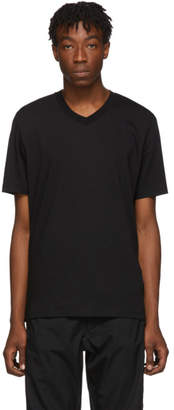 Jil Sander Black V-Neck T-Shirt