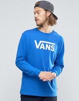 Vans Classic Logo Ls T-shirt In Blue V00k6hkgg