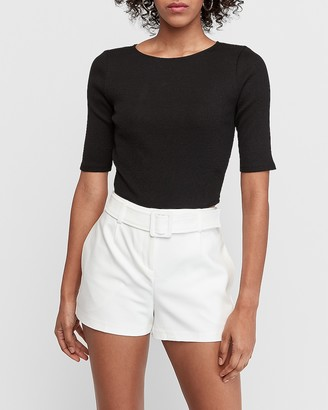 Express High Waisted Belted Shorts