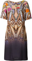 Etro floral geometric print dress - women - Silk - 46
