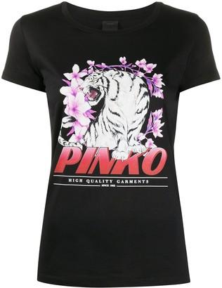 Pinko graphic-print crew neck T-shirt