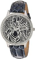 Burgmeister Women's Quartz Watch with Black Dial Analogue Display and Grey Leather Bracelet BM805-122