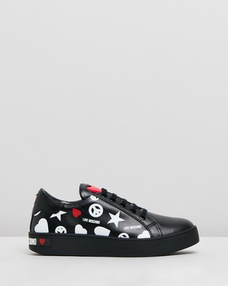 Love Moschino Low-Top Printed Sneakers