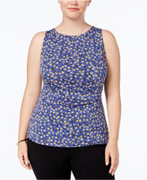 Anne Klein Plus Size Ruched Shell