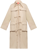 Marianna Senchina Patchwork Tie-Front Trench Coat