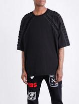 Kokon To Zai Lace-up cotton-jersey T-shirt