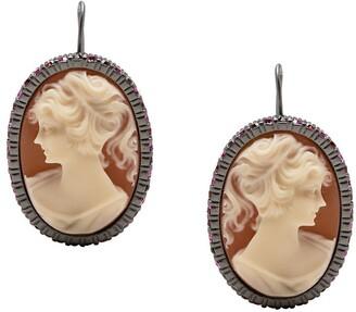 Ports 1961 Cameo rhinestone-embellished earring